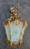 Elegant lampadar antic din bronz masiv de dimensiuni impresionante