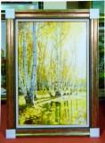 Tablou pictat manual pe panza in ulei ,Peisaj Natura Toamna A-110, Realism