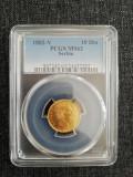 10 dinari 1882 ms 63, Europa