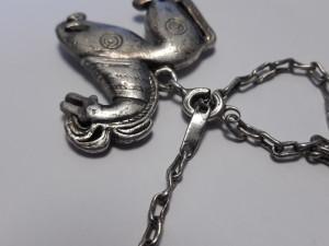 BRELOC argint CAL foarte VECHI rar MASIV de colectie SPLENDID de efect