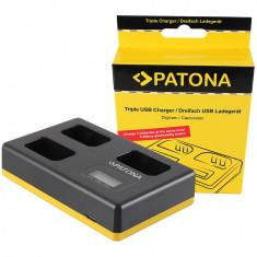 PATONA | Incarcator triplu pentru Sony NP-FW50 NPFW50 NP FW50