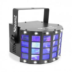 Beamz LED BUTTERFLY 3X3W RGB + 14XSMD STROBE, mod de control cu ajutorul muzicii sau modul automatic