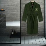 Halat de baie Beverly Hills Polo Club, 355BHP1703, bumbac 100 procente, XS/S, Verde