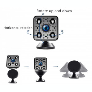 Mini Camera Spion iUni IP35, Wireless, Full HD 1080p, Audio-Video, Detectie Miscare, Night Vision