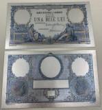 1000 LEI 1933 (REPLICA/REPRODUCERE) POLIMER (PLASTIC) PLACATA CU ARGINT 999‰