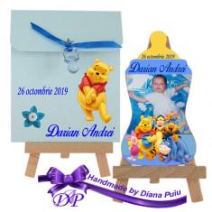 Marturii botez magnet biberon Winnie the Pooh Handmade by Diana Puiu MBBW 1