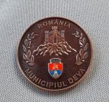 Medalie heraldica Deva - Împăratul Traian - stema municipiului
