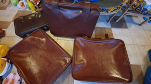 Valiza geamantan piele naturala