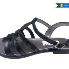 Sandale dama negre din piele naturala - Made in Romania S2N