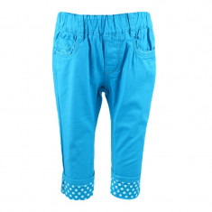Pantaloni casual pentru fetite Happy House ACC127, Turcoaz